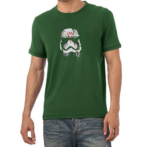 TEXLAB - Signed Trooper Painting - Herren T-Shirt Flaschengrün