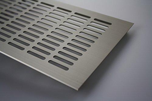 Grille de Ventilation Aluminium en Plusieurs Couleurs - Acier inoxydable anodisé