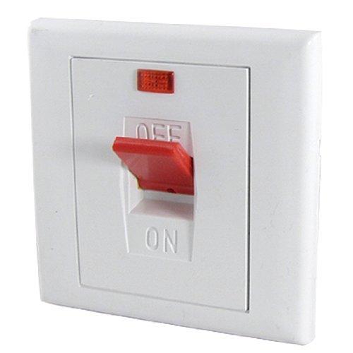 DealMux AC 250V 25A 2 Duas Fases de néon Indicador On/Off Switch parede Cooker