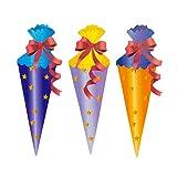 Oblique Unique® Zuckertüte Konfetti 18 STK. Zuckertüten Tisch Dekoration Streu Deko Schuleinführung Einschulung Schulanfang Schule - 4