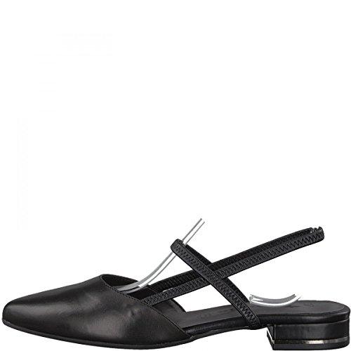 Tamaris Damen 29408 Slingback Sandalen, Schwarz (Black Leather), 40 EU (Leder Fashion Sandale)
