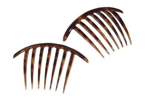 French Twist Comb Made in France Tortoise Shell - Set of 2 (Two) by Ear Mitts; EarMitts Shell Mitt