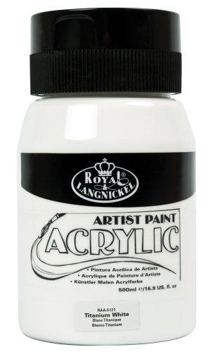 Royal & Langnickel RAA-5114 - Essentials - Flacone di colore acrilico, 500 ml, colore: Bianco