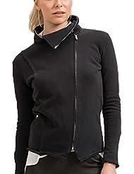 trueprodigy Casual Mujer marca Sudadera Zip basico ropa retro vintage rock vestir moda con capucha manga larga slim fit designer cool urban fashion sueter hoodie color negro 2573508-2999