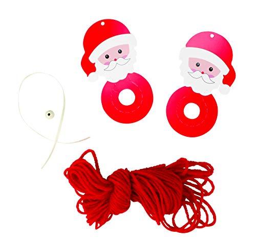 MegaCrea DIY Kit créatif Pompon Père Noël Rouge