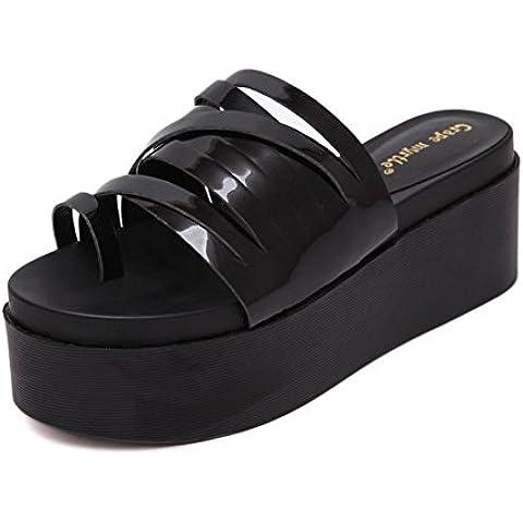 zapatillas de punta de verano/Comfort impermeable grueso sandalias/Zapatillas de playa