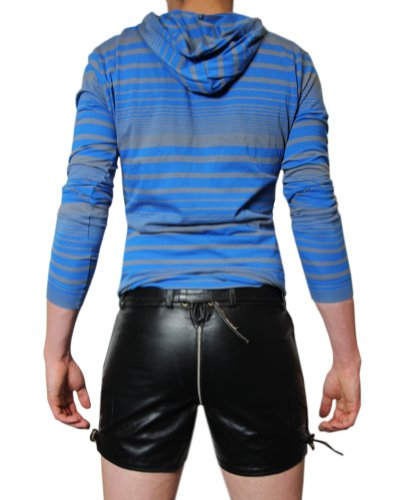 Bockle® Bavaria Fun Tradizionali pantaloni di pelle uomo nero Nero