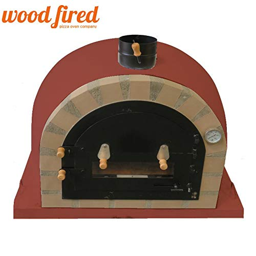 Brick Red Pro-Deluxe Wood Fired Pizza Oven, 100cm