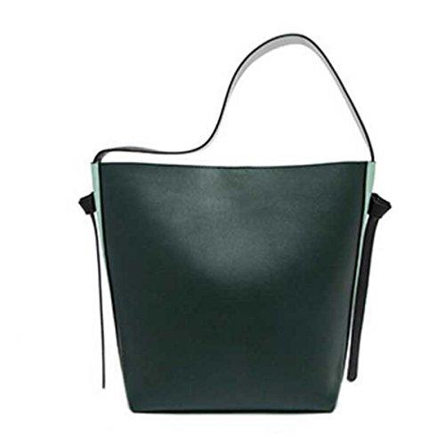 Frauen Große Kapazität Eimer Tasche Leder Einkaufstasche Umhängetasche C