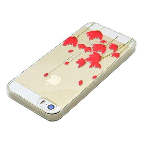 iPhone 5s Coque - MYTHOLLOGY Antichoc Housse Transparent Silicone Souple Slim Coque Pour iphone 5S / iphone SE /iphone 5 - YMXN HSHH