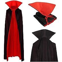 papapanda Vampiro Collo Alto Mantello Rosso Nero 130cm per Bambini e Adulti 2430bb4d1b1a