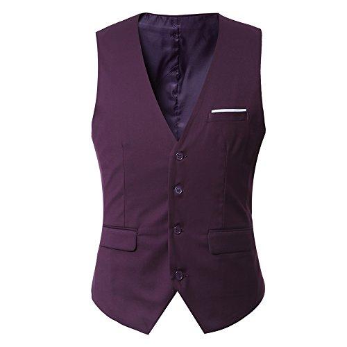 EHOMEBUY -  Gilet  - Uomo Purple