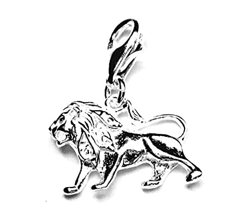 Solid Sterling 925 Silver Charm - Astrology Zodiac Sign - Leo