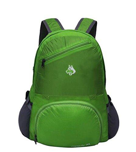 30L Multifunzionale Pieghevole Zaino Viaggio Esterno Impermeabile Da Viaggio Borsa,Purple Green