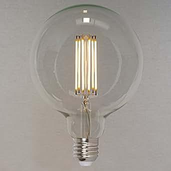 Retro Vintage Industriell Stil Gl/ühbirne Squirrel Cage Globe sehr gro/ß 125mm- The Retro Boutique /® 660lm 60W Dimmbares Vintage LED Edison Leuchtmittel 6W