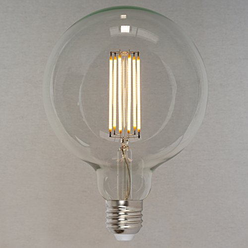 Dimmbares Vintage LED Edison Leuchtmittel 6W (60W) 660lm - Retro Vintage Industriell Stil Glühbirne 'Squirrel Cage' Globe sehr groß 125mm- The Retro Boutique ®