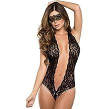 Cinnamou Ropa de dormir Conjuntos ,Ropa Interior Mujer SexyErotica Transparente Talla Grande Máscara de ojo