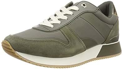 f720cbdc54f513 Bild nicht verfügbar. Keine Abbildung vorhanden für. Farbe  Tommy Hilfiger  Damen Mixed Material Lifestyle Sneaker Grün (Dusty Olive 011) 40 EU