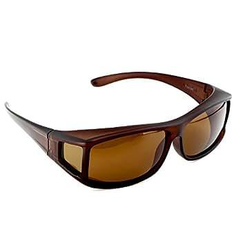 ACTIVE SOL Sovraocchiali da sole | UV400 Occhiali da sole clip-on da uomo | polarizzati | Occhiali clip-on polarizzati per chi porta occhiali da vista