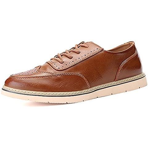 moda zapatos vintage/Brock tallada zapatos de cuero/Hombre negocios casual zapatos de vestir/Zapatos de