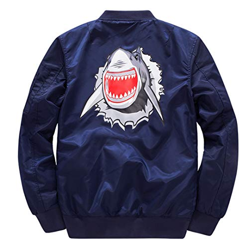 VHKHFWD Winter Air Force Dicke Anime Cartoon Baseball Bomberjacke