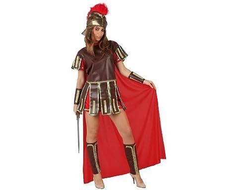 Atosa 96781 - Verkleidung Römische Kriegerin, Erwachsene, Größe 38-40, rot (Roman Kriegerin Kostüm)