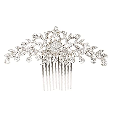 Pixnor Hochzeit Haar Kamm Crystal Strass Blume Diamante Braut Haar