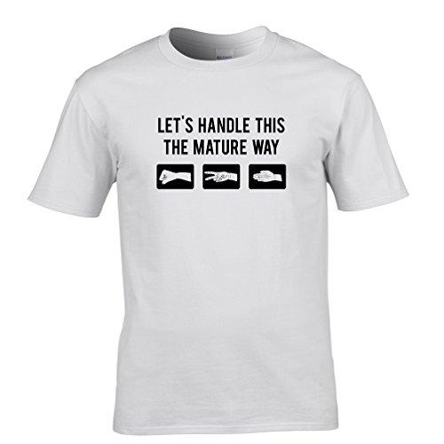 Paper Rock Scissors Reife Entscheidung Erwachsensein Herren T-Shirt White