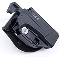 orpaz Glock Thumb Release Holster Polymer giratorio Paddle/Belt W/Tension Adjustment Fits Glock 17/19/22/23/25/26/27/31/32/34/35