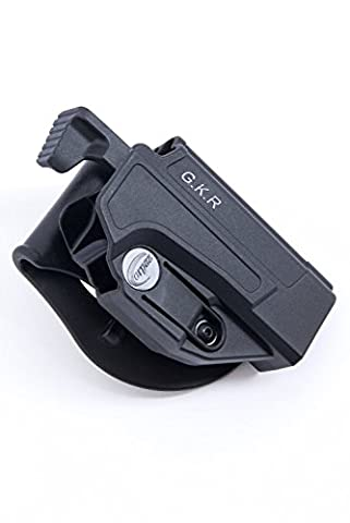 Orpaz Glock Thumb Release Holster Polymer Rotation Paddle/Belt w/ Tension Adjustment Fits Glock 17/19/22/23/25/26/27/31/32/34/35