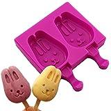#4: JoyGlobal Silicone Rabbit Shape Food Grade Popsicle Cakesicle Ice Cream Mould