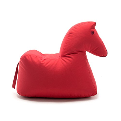 Sitting Bull 190402 Happy Zoo Lotte Pferd Sitzsack, Rot 100{270f5e272ef19fa7549f27fba097e8677d36d7ee853a7c3138a1a19443715b9b} Polyester Beschichtet LxBxH 81x67x37cm