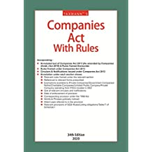 Taxmann's Companies Act with Rules (Hardbound Pocket Edition) (34th Edition 2020)