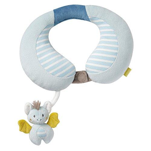 Preisvergleich Produktbild Fehn 065282 Nackenstütze Fledermaus / Nackenkissen mit kleiner Rassel-Fledermaus für Babys und Kleinkinder ab 6+ Monaten / Stützt und entlastet in Kinderwagen, Babyschale oder Auto
