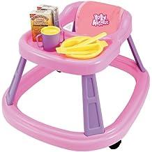 Casdon 709 - Tacatá con bandeja y accesorios para muñecos, color rosa