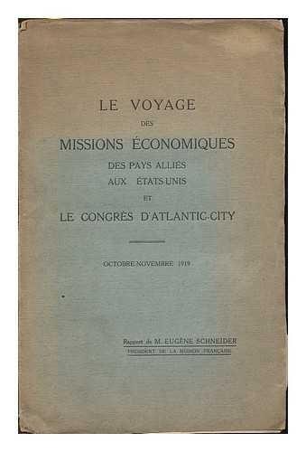 le-voyage-des-missions-economiques-des-pays-allies-aux-tas-unis-et-le-congres-datlantic-city-octobre