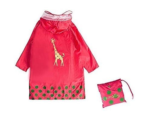 GIM Kid Rain Coat ,Cartoon Waterproof Children's Raincoat Lightweight for Ages 3-12 Years Old Girls (Leggero Pioggia Poncho)