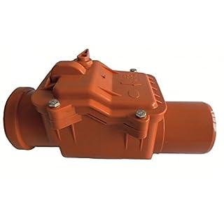 Rückstausicherung-Rückstauverschluss-Rückstauklappe: Ø DN 50 (50 mm), verriegelbare Rückstauklappe mit Edelstahleinlage