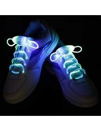 strimusimak luci LED Flash Luminous Glow Strap lacci scarpe lacci party  disco Decor per Sneaker Stivali Board e il… a2be8f66268