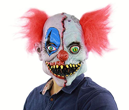 e, Clown-Maske, Terror-Maske, Prank-Maske Beängstigend Gesicht Beängstigend Halloween-Kostüm-Party, Maskerade, Männer Neuheit Maske ()