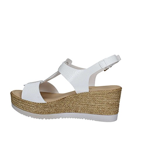 GRACE SHOES 18221 Sandalo zeppa Donna Bianco