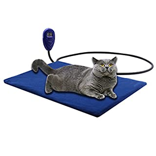 AIICIOO Cat Dog Heating Pad Electric Heated Pad for Pets Waterproof Adjustable Temperature Control with Chew Resistant Washable (30 x 40 cm)