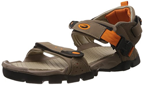 Sparx Men's Camel and Orange Athletic and Outdoor Sandals - 8 UK/India (42 EU)(SS0502G)