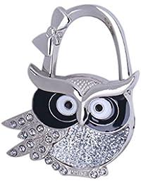 MagiDeal Assorted Owl Design Brilliant Handbag Purse Lock Hanger Hook H for Ladies - #1
