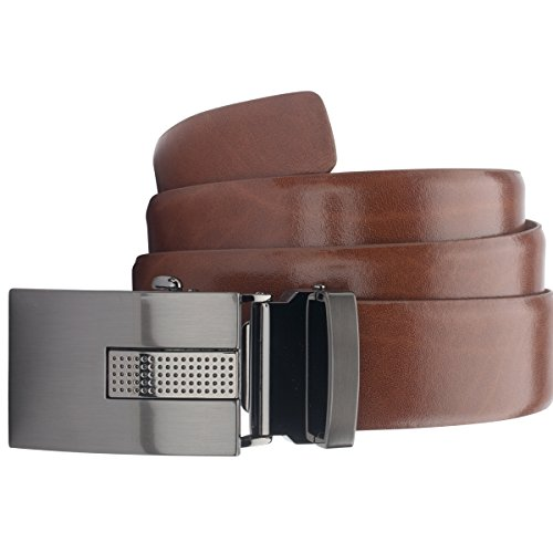 Lindenmann Mens Leather Belt/Mens belt, leather belt autolock, cognac