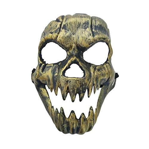Scary Ghost Mask Halloween-Kostüm Masken Vollmasken Partykostüme Prop Masquerade Zubehör Gesicht Dekor - Gold