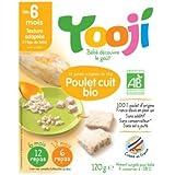 YOOJI - Poulet cuit BIO Yooji - 120 g - Surgelé