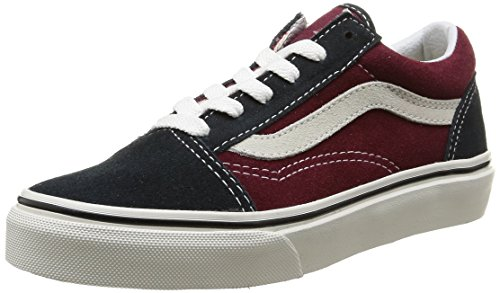 Vans Old Skool, VW9TGXR, Unisex-Erwachsene Sneakers, Mehrfarbig (Vintage/Blue Graphite/Windsor Wine), 28 EU