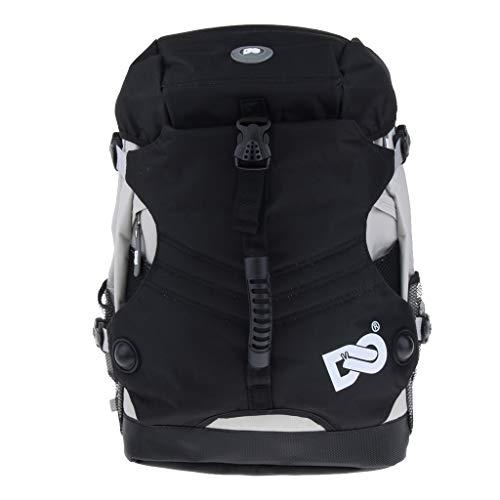 IPOTCH Schlittschuhe Tasche Rollschuhetasche Rollschuhe Rucksack - Schwarz