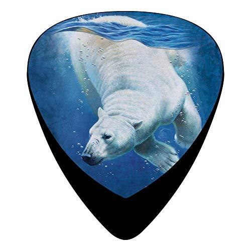 Polar Bear Dive Ladies Guitar Picks Celluloid Print Womens Complete Assorted 12 Pack - Womens Polar Bear